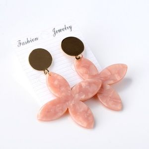 Tortoise Acrylic Drop Earrings